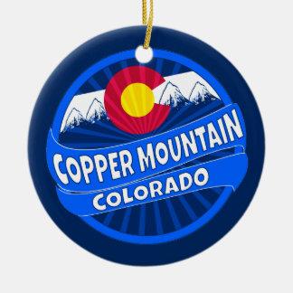 Copper mountain Colorado mountain burst ornament