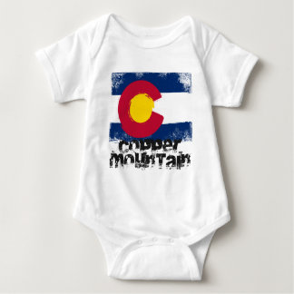Copper Mountain Grunge Flag Baby Bodysuit