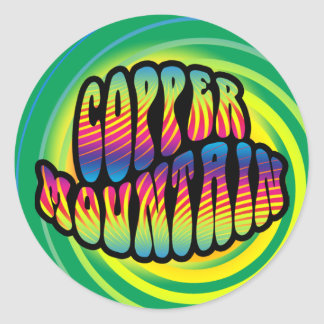 Copper Mountain Hippy Trippy Stickers