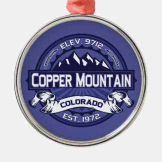 Copper Mountain Logo Midnight Metal Ornament