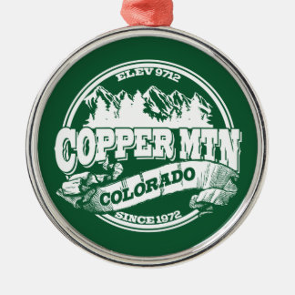 Copper Mountain Old Circle Green Metal Ornament