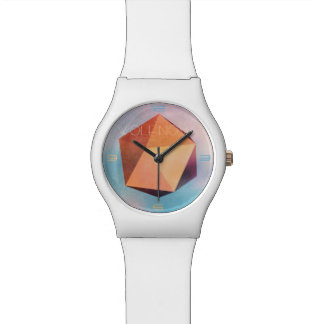 Copper Ore 3D Geometric art Watch