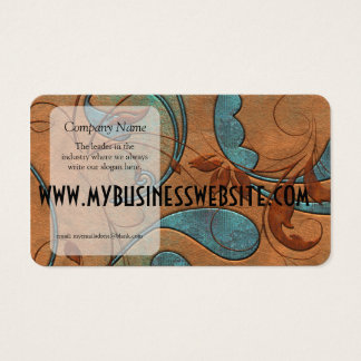 Copper Patina and Vines Large Business Card