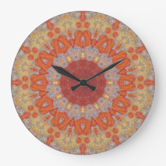 Copper Patina Mandala 05834-1 Large Clock