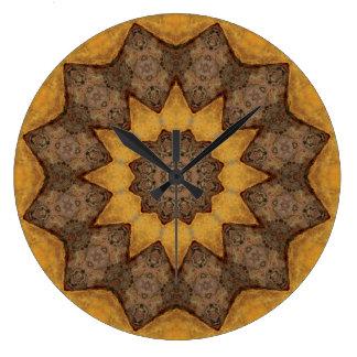 Copper Patina Mandala 09943-1 Large Clock