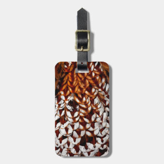 Copper Pheasant Feather Design Bag Tag