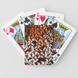Copper Pheasant Feather Design Bicycle Playing Cards