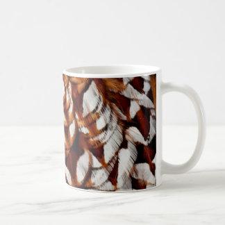 Copper Pheasant Feather Design Coffee Mug