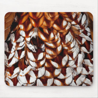 Copper Pheasant Feather Design Mouse Pad