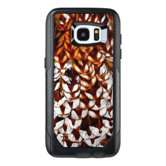 Copper Pheasant Feather Design OtterBox Samsung Galaxy S7 Edge Case
