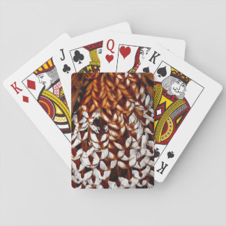 Copper Pheasant Feather Design Playing Cards