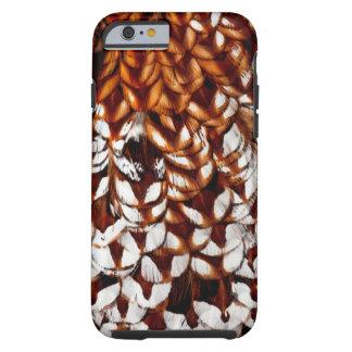 Copper Pheasant Feather Design Tough iPhone 6 Case