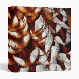 Copper Pheasant Feather Design Vinyl Binders