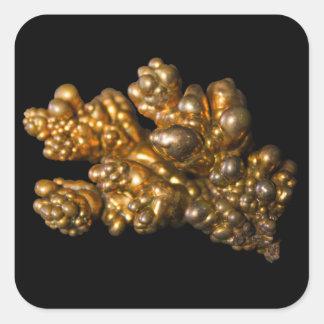 Copper Photo on Black Square Sticker