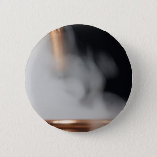 copper pipe of a distillery with steam. 2 inch round button