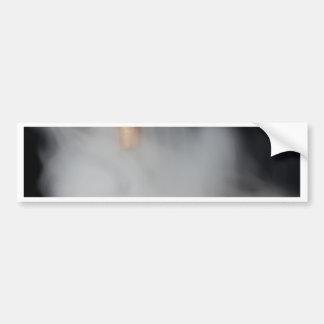 copper pipe of a distillery with steam. bumper sticker