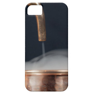 copper pipe of a distillery with steam. case for the iPhone 5