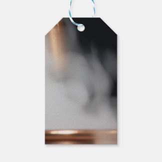 copper pipe of a distillery with steam. pack of gift tags