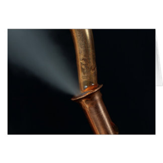 Copper pipe with steam card