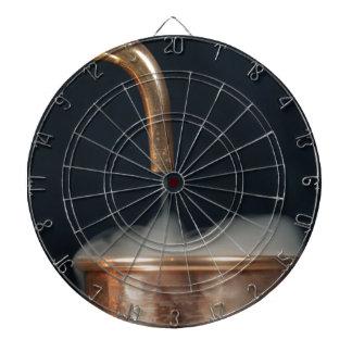 Copper pipe with steam dartboard