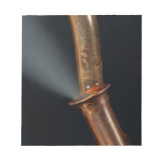 Copper pipe with steam notepad
