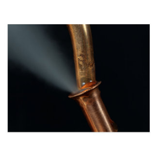 Copper pipe with steam postcard