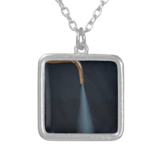 Copper pipe with steam silver plated necklace