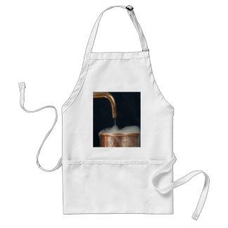 Copper pipe with steam standard apron