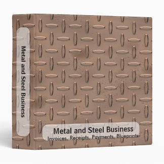 Copper Plate Business Binder