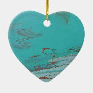 Copper Pond Ceramic Heart Ornament