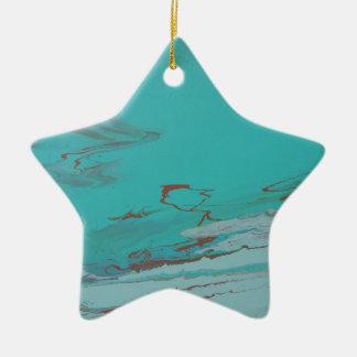 Copper Pond Ceramic Star Ornament