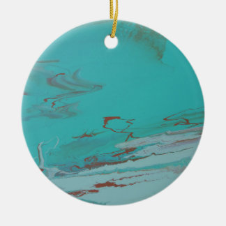 Copper Pond Round Ceramic Ornament
