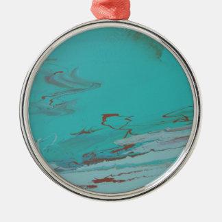 Copper Pond Silver-Colored Round Ornament