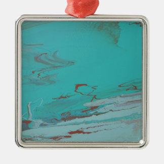 Copper Pond Silver-Colored Square Ornament
