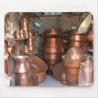 Copper Pots At Market Mouse Pad