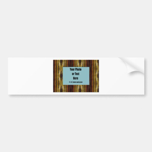 Copper Ribbons Frame - Customizable Bumper Stickers