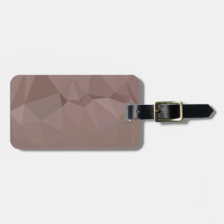 Copper Rose Abstract Low Polygon Background Bag Tag