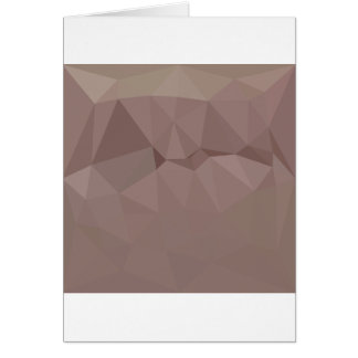 Copper Rose Abstract Low Polygon Background Card