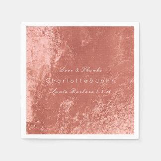Copper Rose Gold Metallic Beach Wedding Bridal Napkin