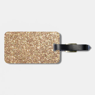 Copper Rose Gold Metallic Glitter Bag Tag