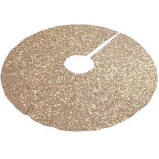 Copper Rose Gold Metallic Glitter Brushed Polyester Tree Skirt