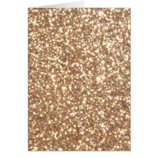 Copper Rose Gold Metallic Glitter Card
