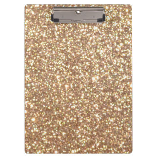 Copper Rose Gold Metallic Glitter Clipboard