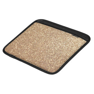 Copper Rose Gold Metallic Glitter iPad Sleeves