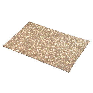 Copper Rose Gold Metallic Glitter Placemat
