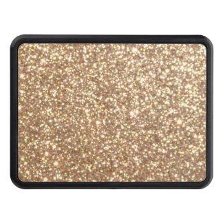 Copper Rose Gold Metallic Glitter Trailer Hitch Cover