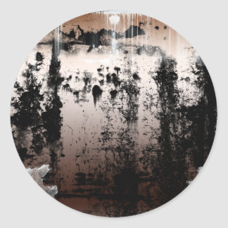 Copper Rusted Grunge Gothic Classic Round Sticker