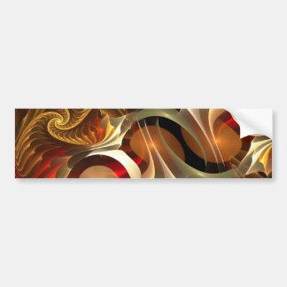 Copper Sci-Fi Abstract Art Bumper Sticker