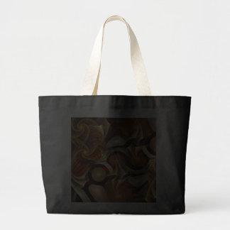 Copper Sci-Fi Abstract Art Canvas Bag