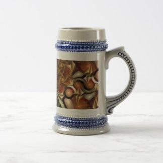 Copper Sci-Fi Abstract Art Coffee Mug